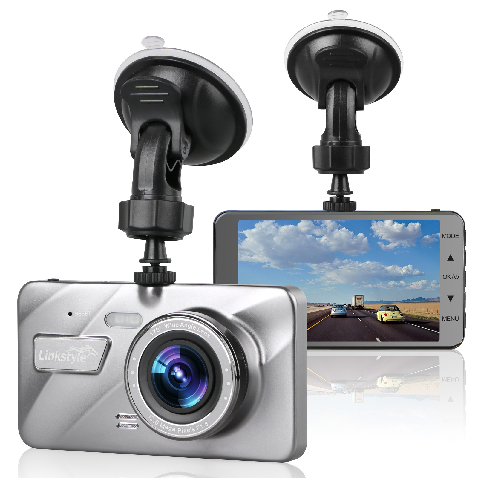 "4/"" Vehicle 1080P Car Dashboard DVR Camera Video Recorder Dash Cam G-Sensor"