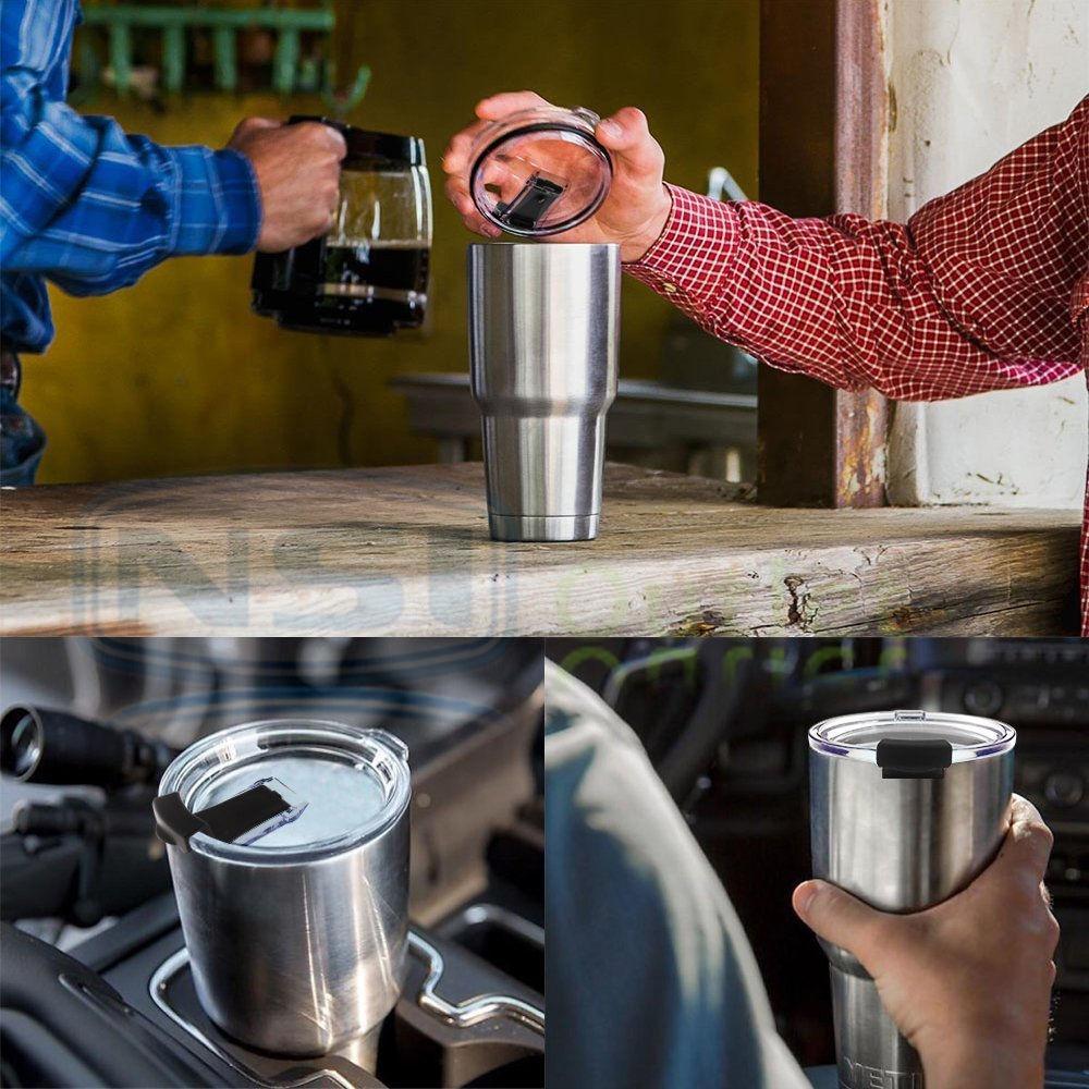 Handle-Lid-For-30Oz-YETI-RTIC-Ozark-Trail-Rambler-Sic-Tumbler-Travel-Cup-Holder thumbnail 7